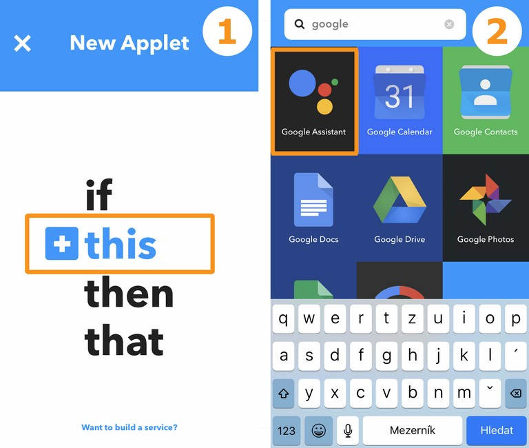 IFTTT Google assistant 1a2 small